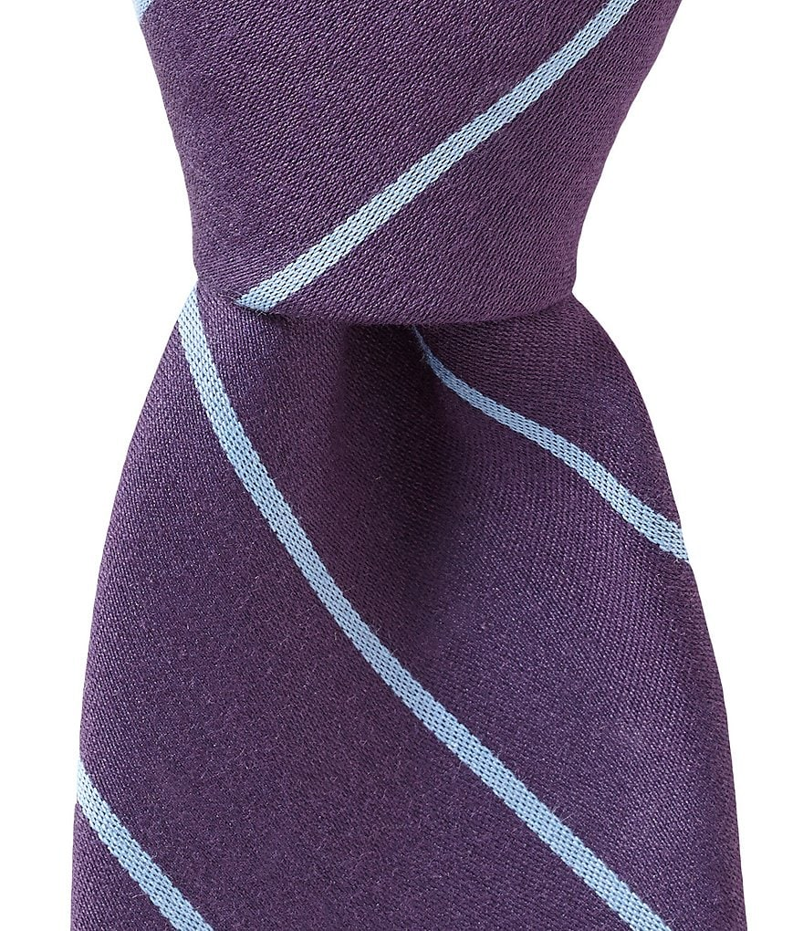 Roundtree & Yorke Trademark Simple Stripe Narrow Tie