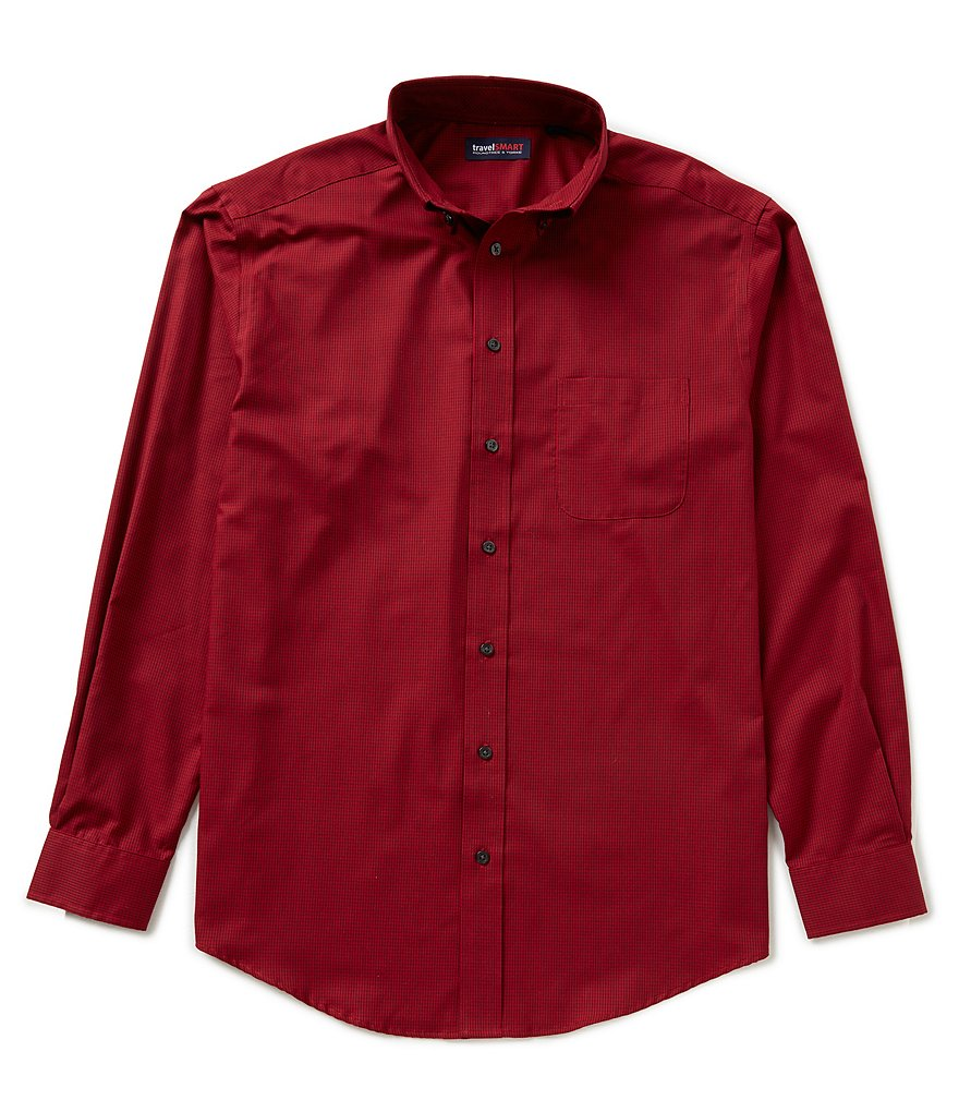 Roundtree & Yorke Travel Smart Big & Tall Checked Sportshirt