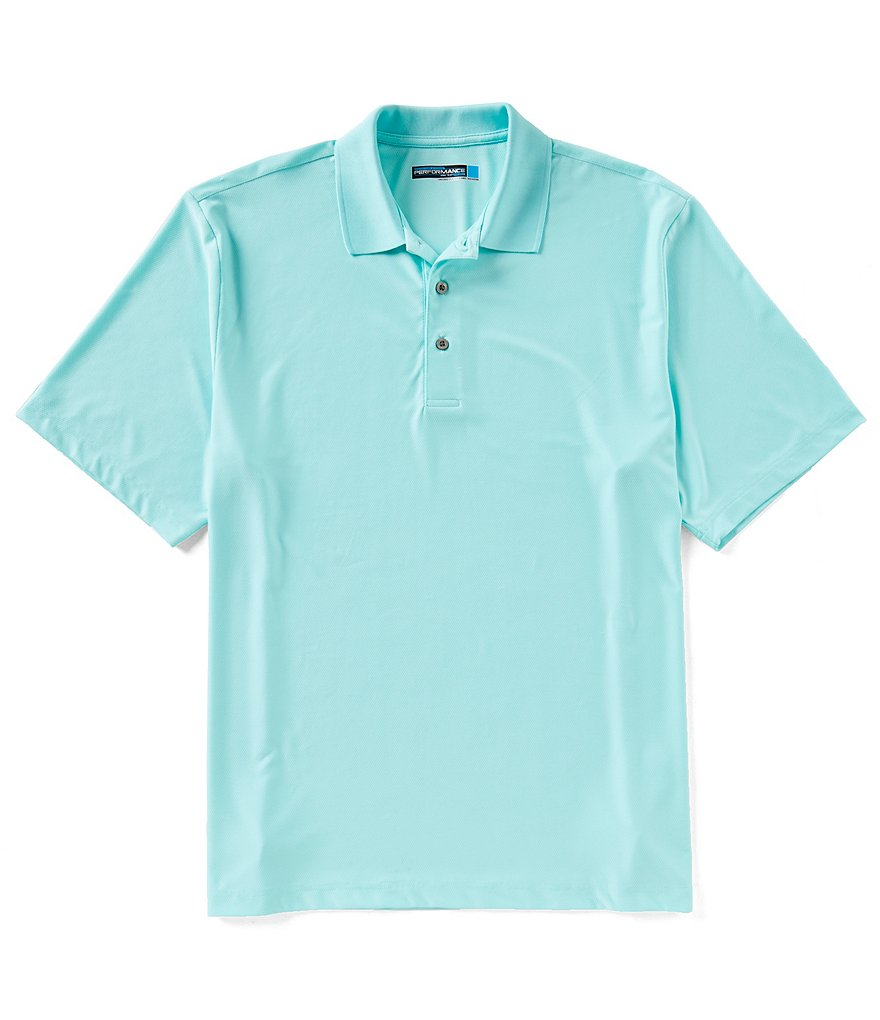 Roundtree & Yorke Travelsmart Short-Sleeve Solid Polo