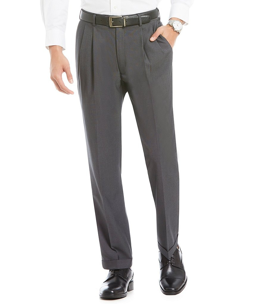 Roundtree & Yorke TravelSmart Ultimate Comfort Classic-Fit Pleated Non-Iron Dress Pants