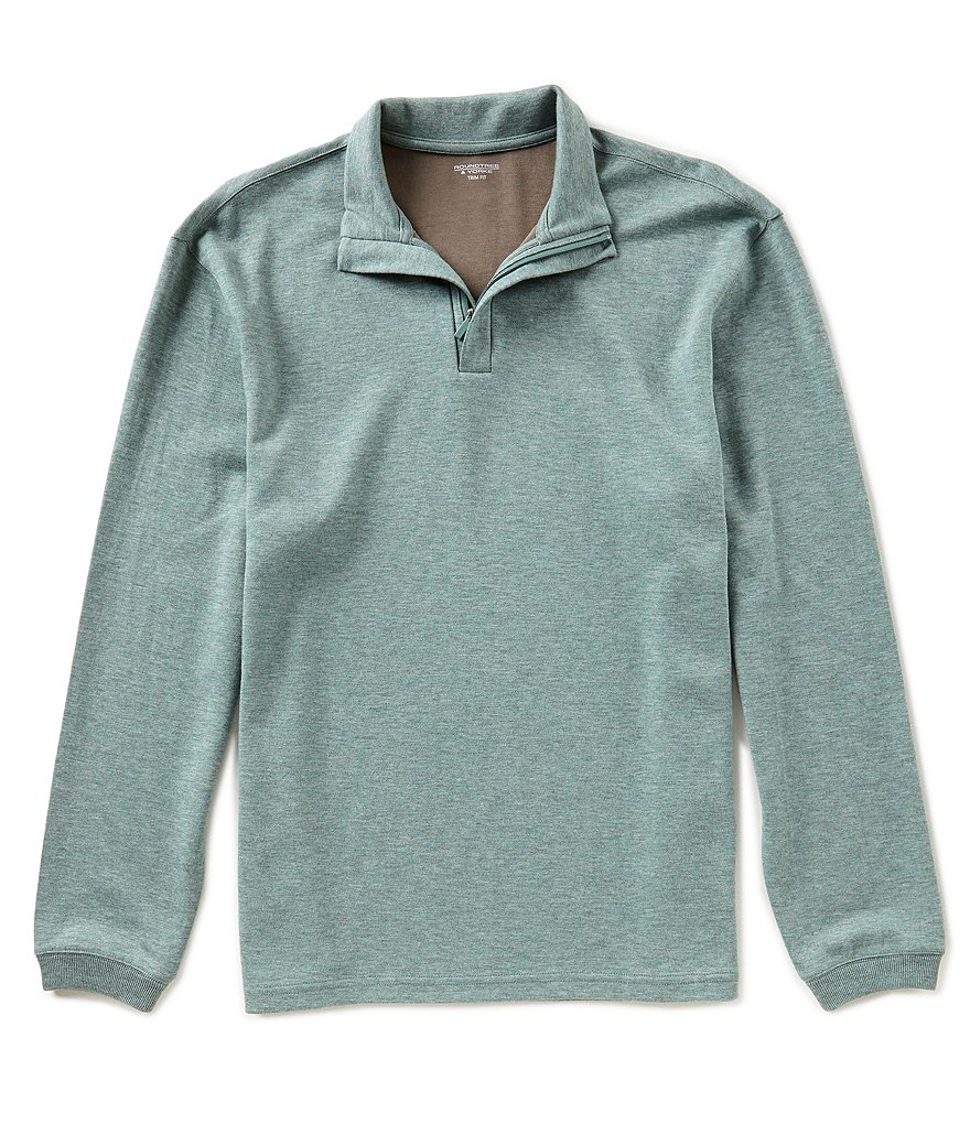 Roundtree & Yorke Trim Fit Long-Sleeve Half Zip Pullover