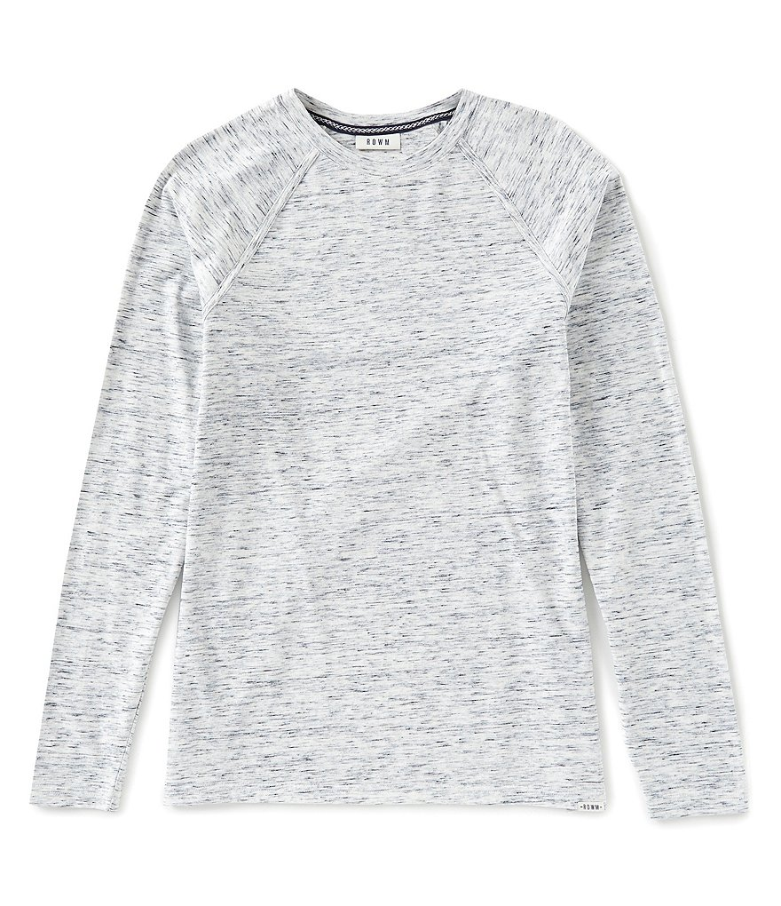 Rowm Long-Sleeve Striated Crew Pullover