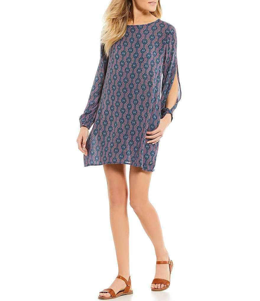 Roxy Definately Traveling Printed T-Back Shift Dress