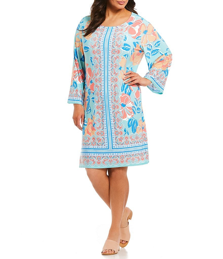 Ruby Rd. Plus Paisley Print Shift Dress