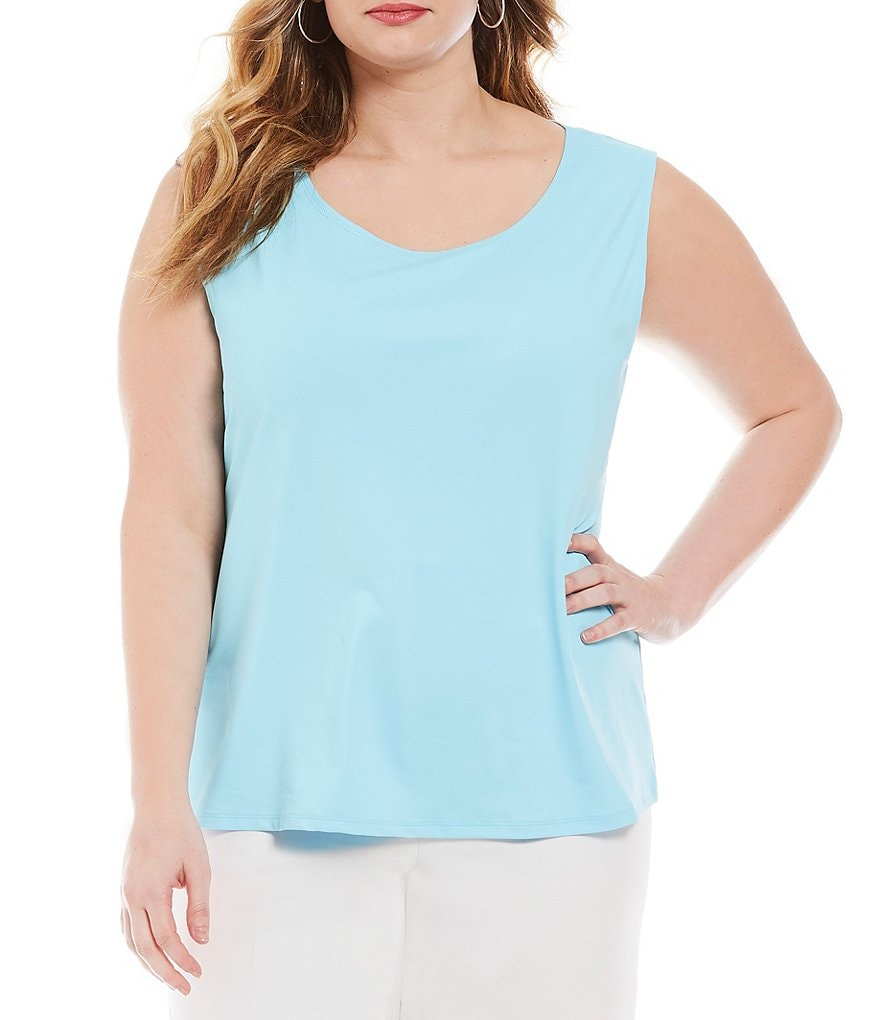 Ruby Rd. Plus Solid Scoop Neck Knit Tank