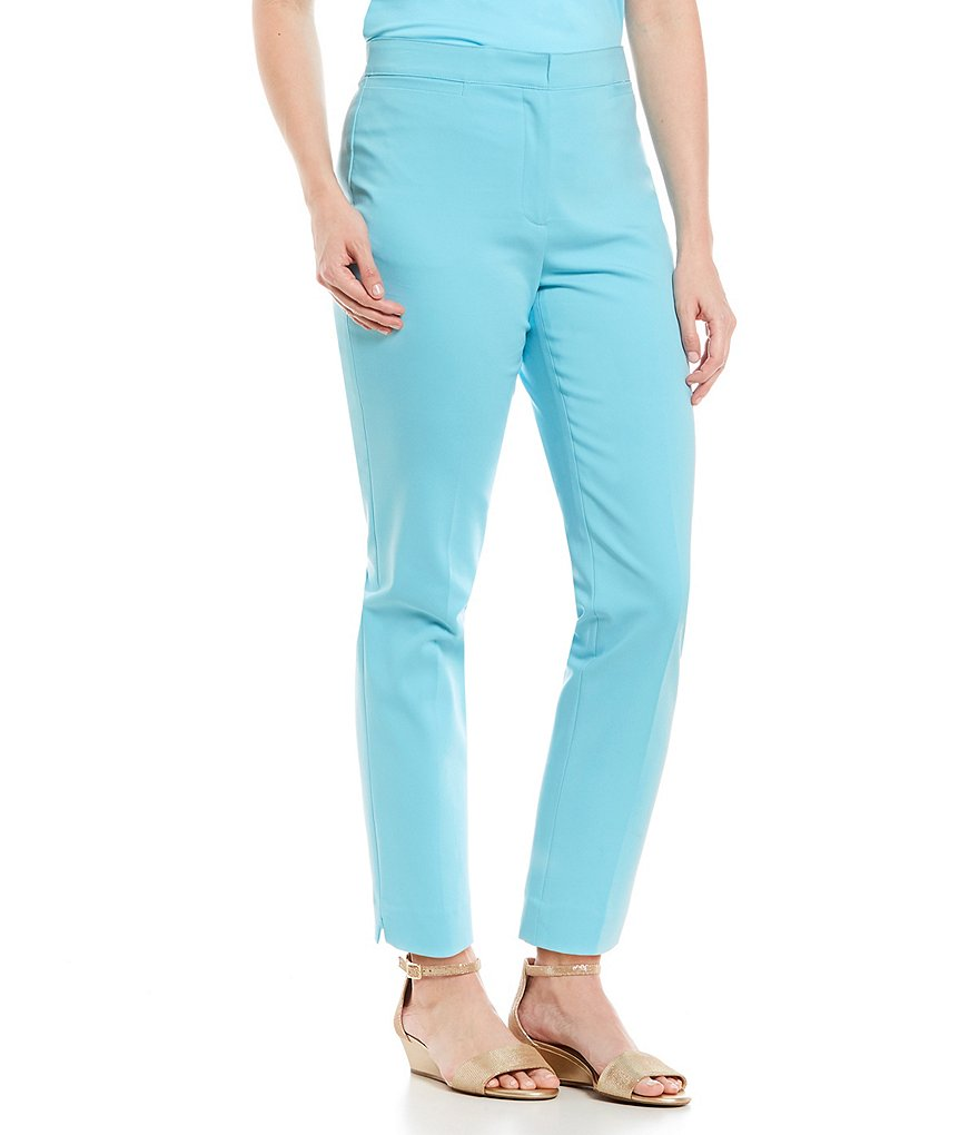 Ruby Rd. Solid Double Face Stretch Ankle Pants