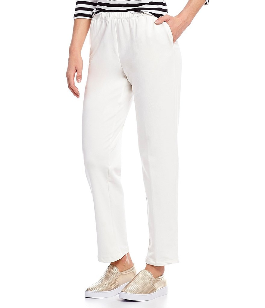 Ruby Rd. Petites Pull-On Solid French Terry Pants