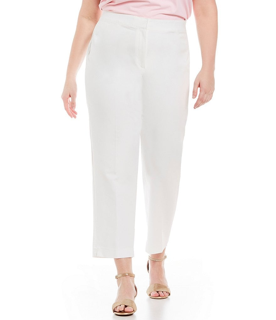 Ruby Rd. Plus Solid FF Double Face Stretch Ankle Pants