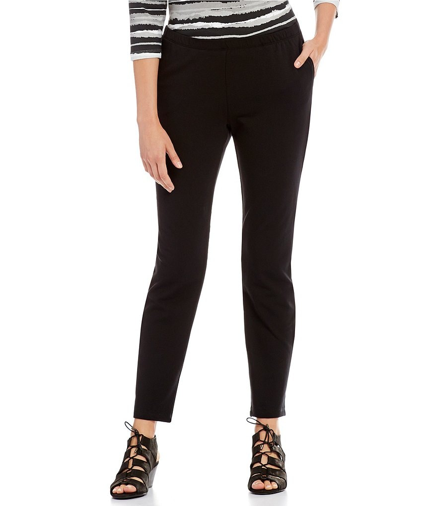 Ruby Rd. Pull-On Stretch French Terry Pants with Side Pockets