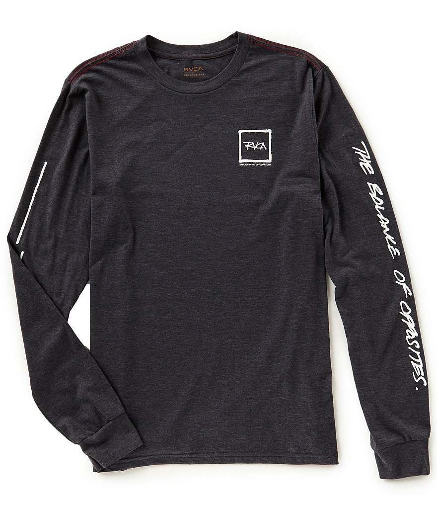 RVCA Scrawl Slim Fit Long-Sleeve T-Shirt
