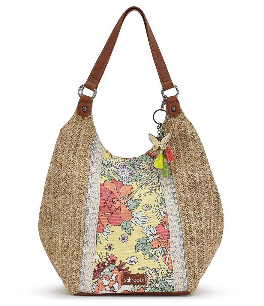 Sakroots Roma Straw Bucket Bag