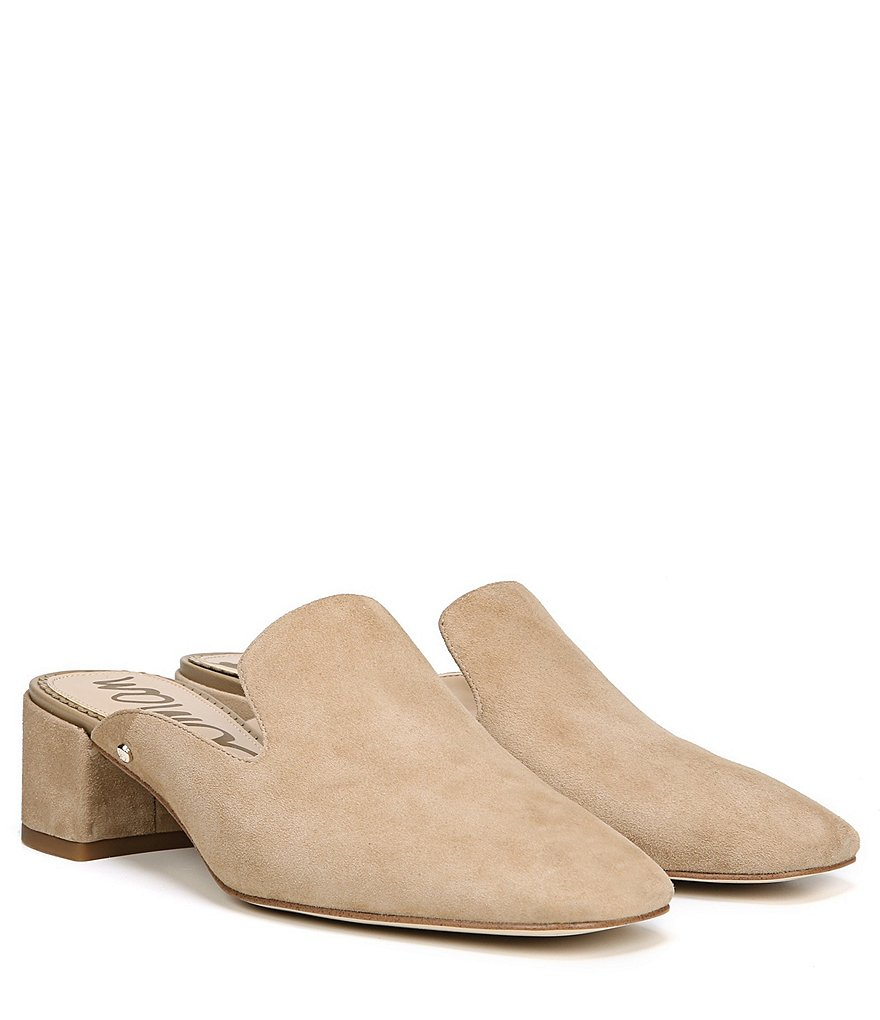 Gentleman/Lady Sam Sam Sam Edelman Adair Suede Slip On Block Heel Mules   Beautiful Design 0209fe