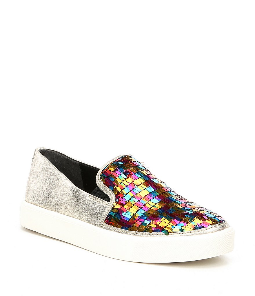 Sam Edelman Elton Bright Multi Sequin Sneakers