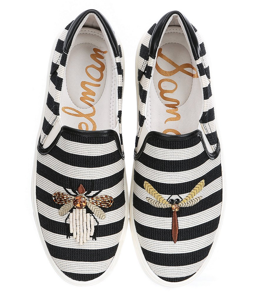 Sam Edelman Evelina Embroidered Bee Embellishment Sneakers