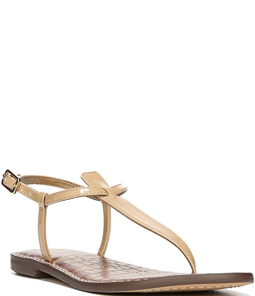 Sam Edelman Gigi T-Strap Patent Leather Sandals