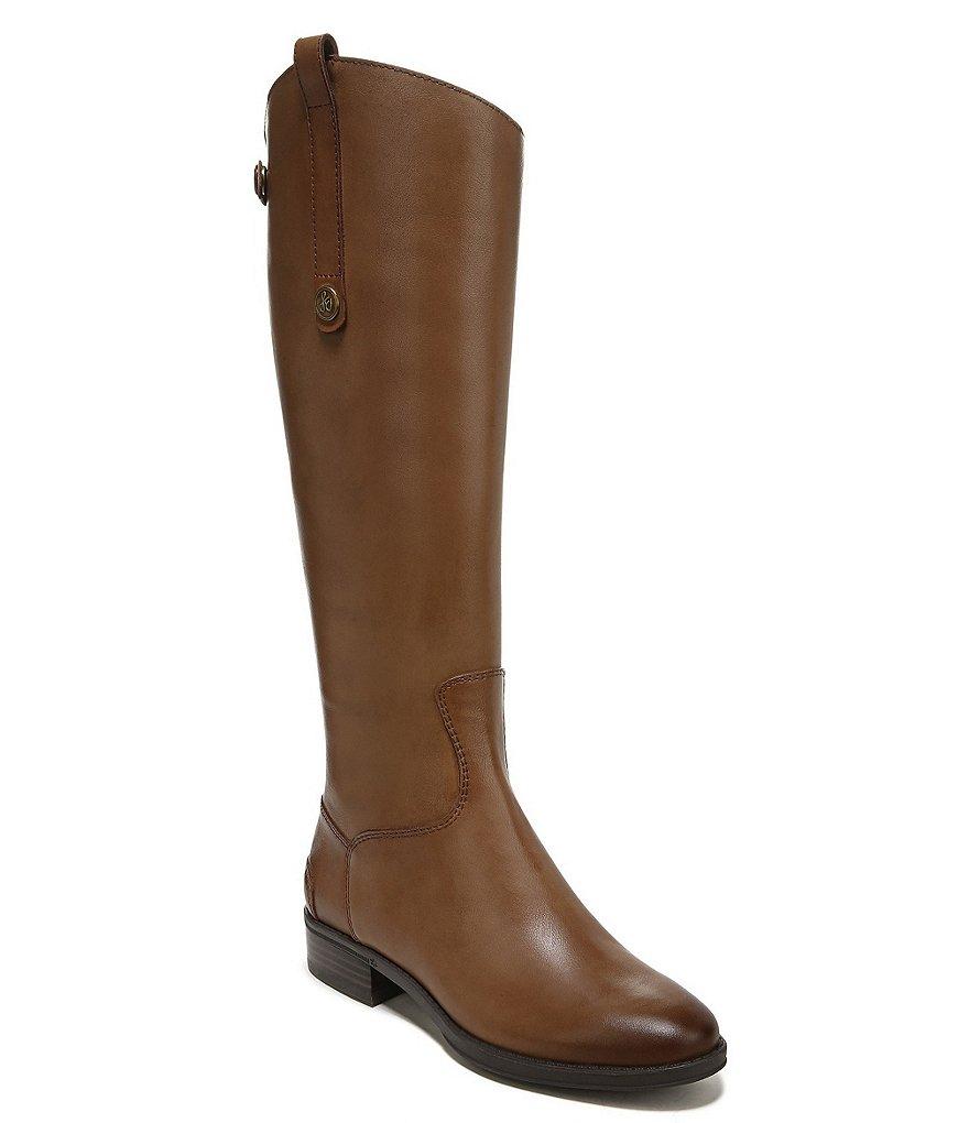 Sam Edelman Penny Back Zip Wide Calf Block Heel Riding Boots D3rumamGS