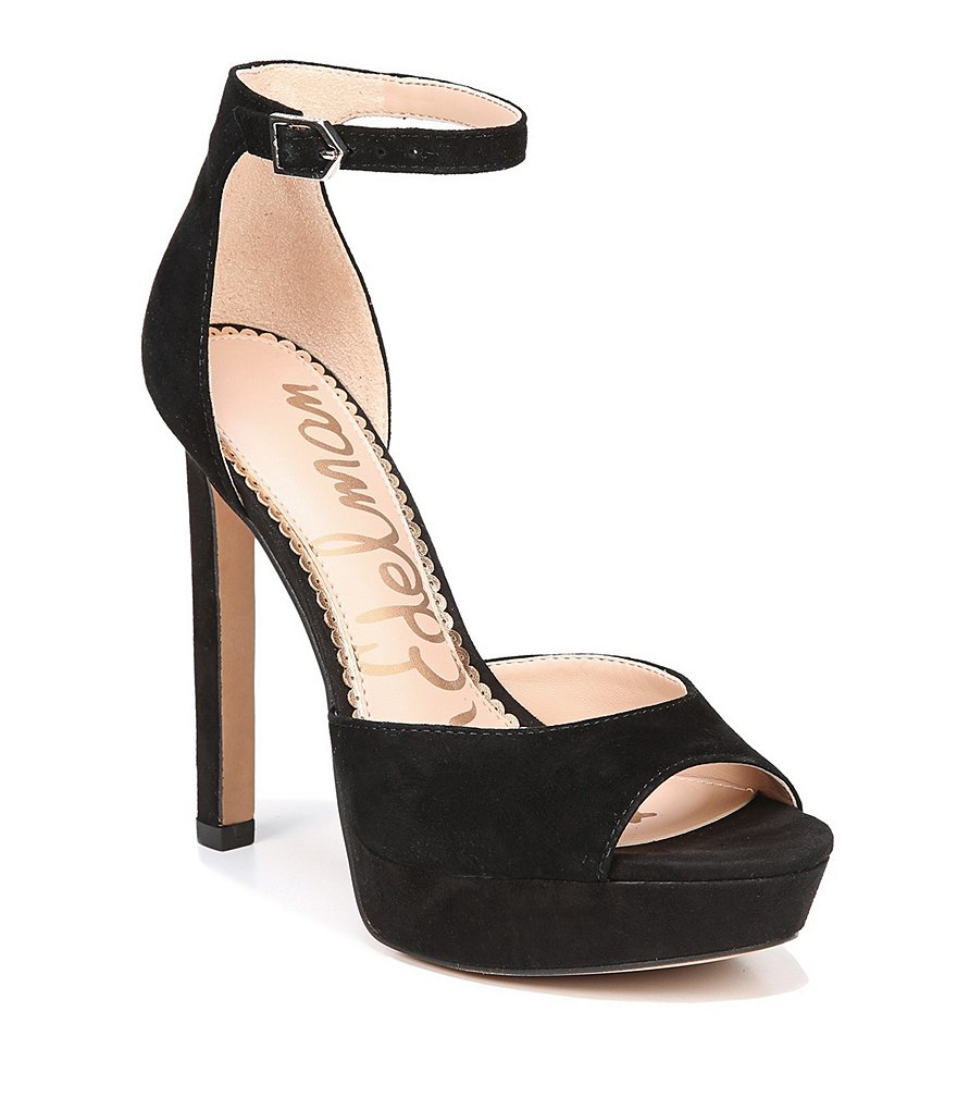Sam Edelman Wallace Suede Ankle Strap Pumps