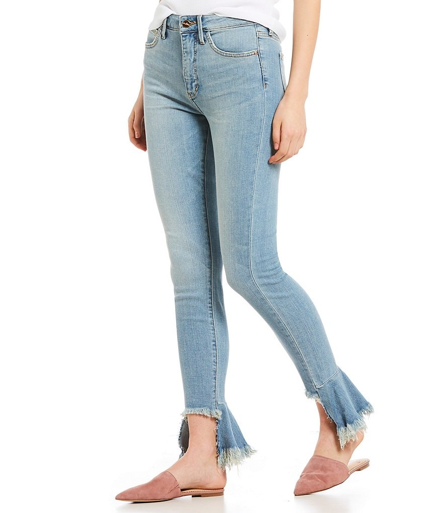 Sam Edelman Yale Stiletto Frayed Ankle Jeans