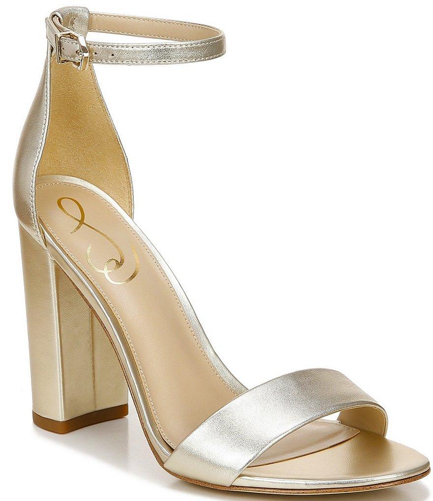 d10b2e902677d Sam Edelman Yaro Leather Ankle Strap Block Heel Dress Sandals ...