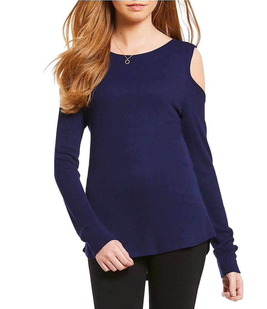 Sanctuary Bowery Thermal Bare Knit Tee