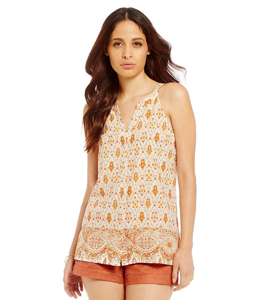 Sanctuary Collage Shell Woven Top