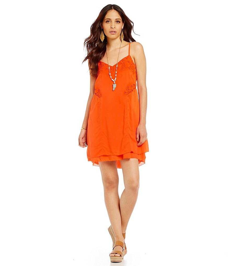 Sanctuary Embroidered Slip Dress