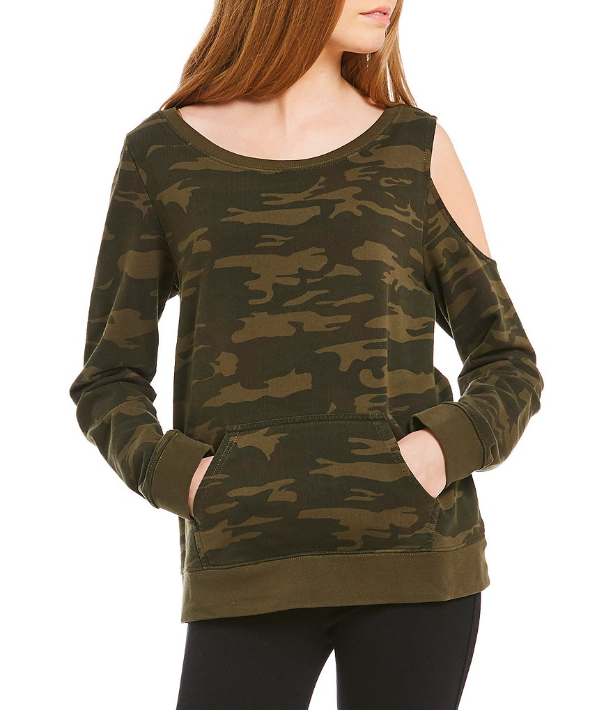 Sanctuary Gramercy Camo Knit Sweatshirt