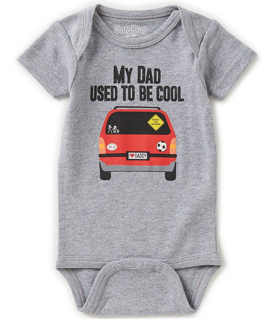 Sara Kety Baby Boys Newborn-18 Months My Dad Used To Be Cool Short-Sleeve Bodysuit