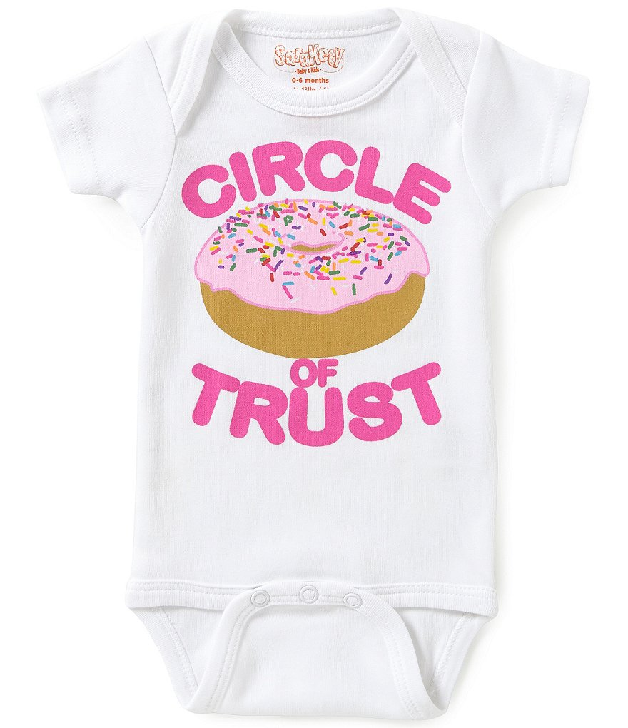 Sara Kety Baby Girls Newborn-18 Months Circle of Trust Bodysuit