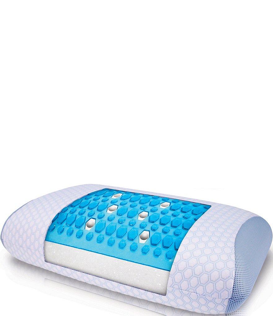 sensorpedic sensorcool dual sided gusseted memory foam pillow with