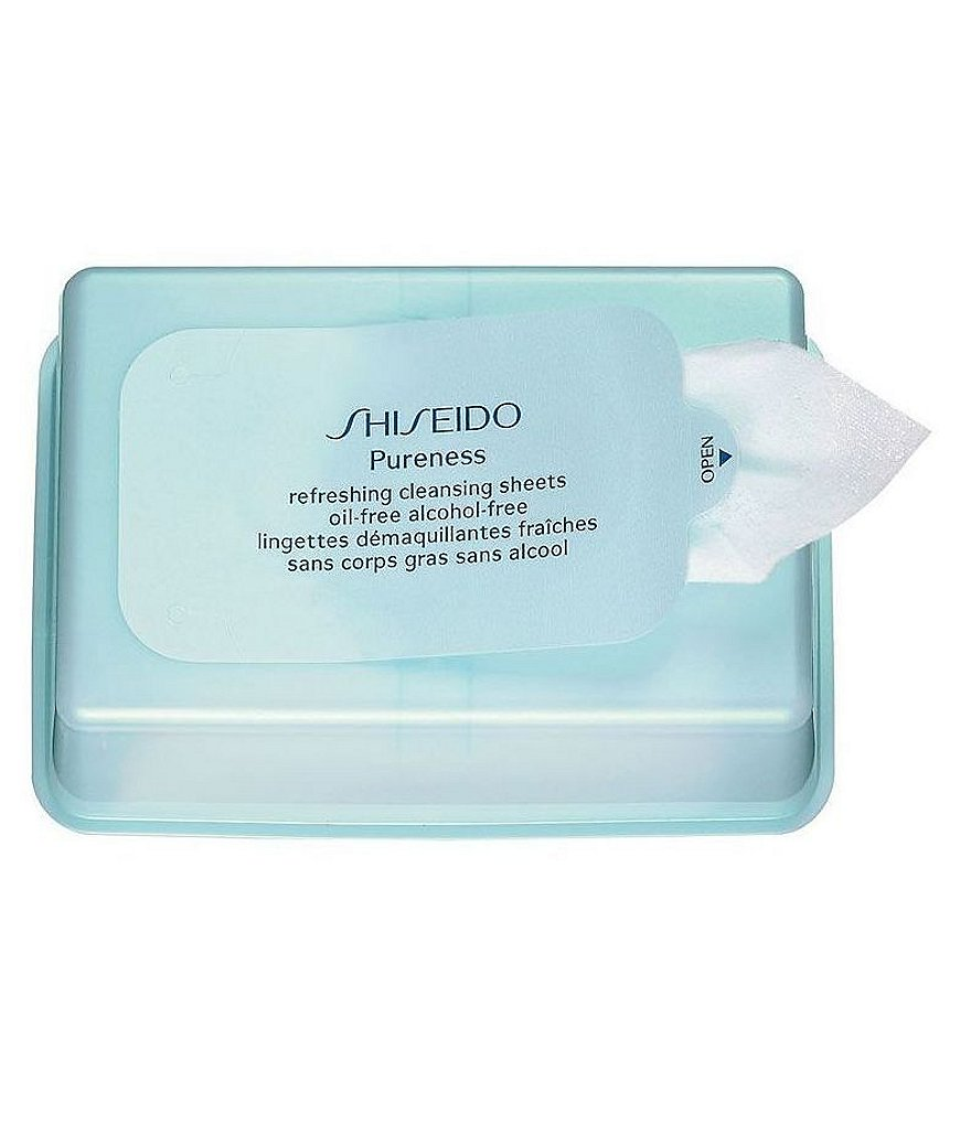 Shiseido Pureness Oil-Free Alcohol-Free Refreshing Cleansing Sheets