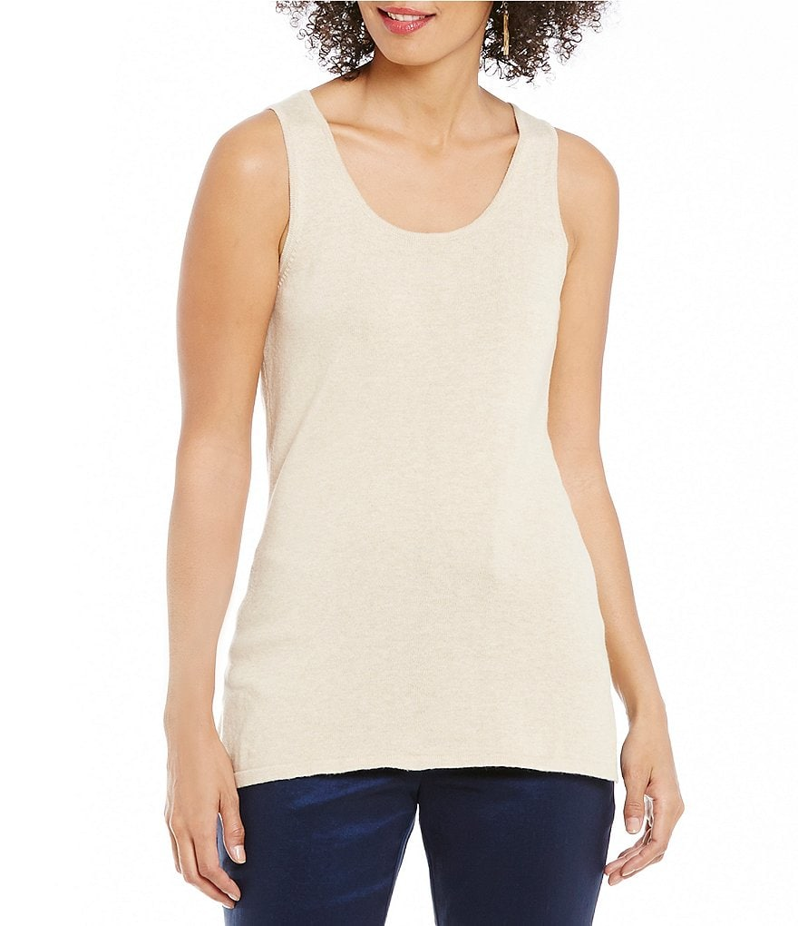 Sigrid Olsen Signature Crew Neck Sweater Tank