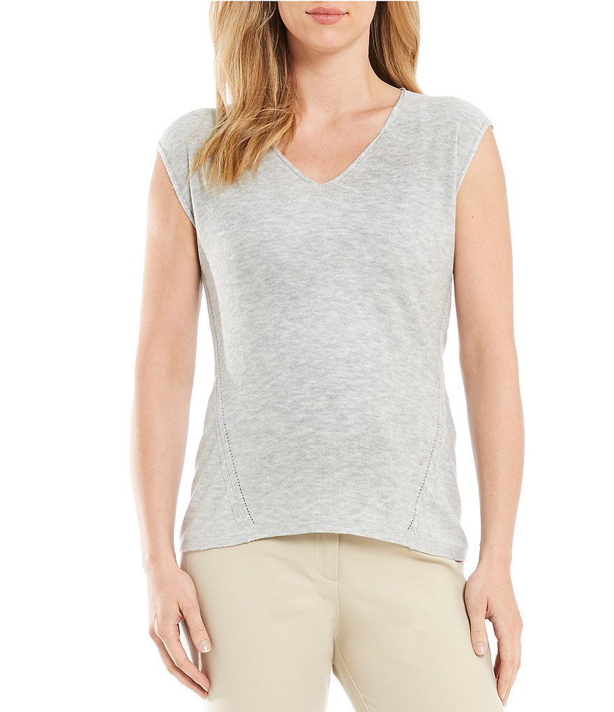 Sigrid Olsen Signature Cap Sleeve Sweater Tank