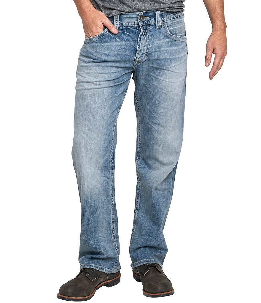 Silver Jeans Co. Big & Tall Eddie Relaxed-Fit Tapered Light Denim Jeans