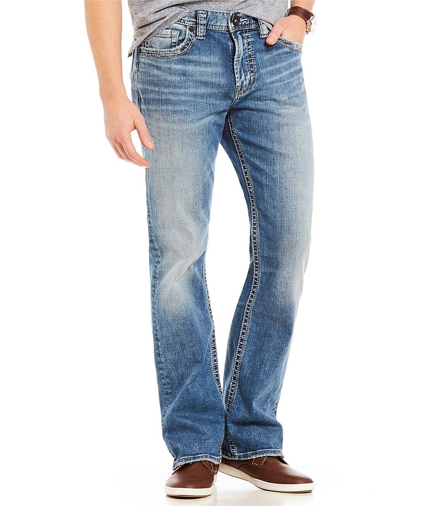 Silver Jeans Co. Craig Stretch Easy Fit Bootcut Medium Wash Jeans