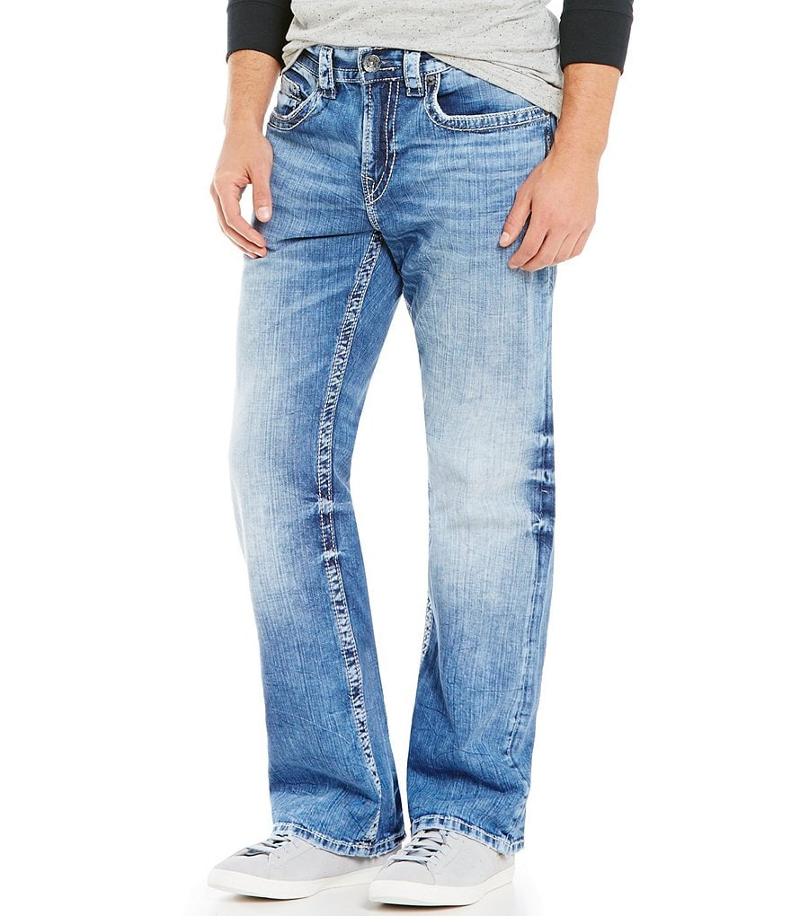 Silver Jeans Co. Craig Stretch Easy Fit Faded Bootcut Jeans