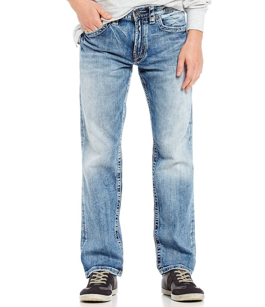 Silver Jeans Co. Eddie Relaxed Light Tapered-Fit Jeans