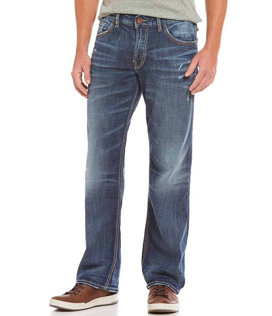 Silver Jeans Co. Gordie Loose Straight-Leg Jeans