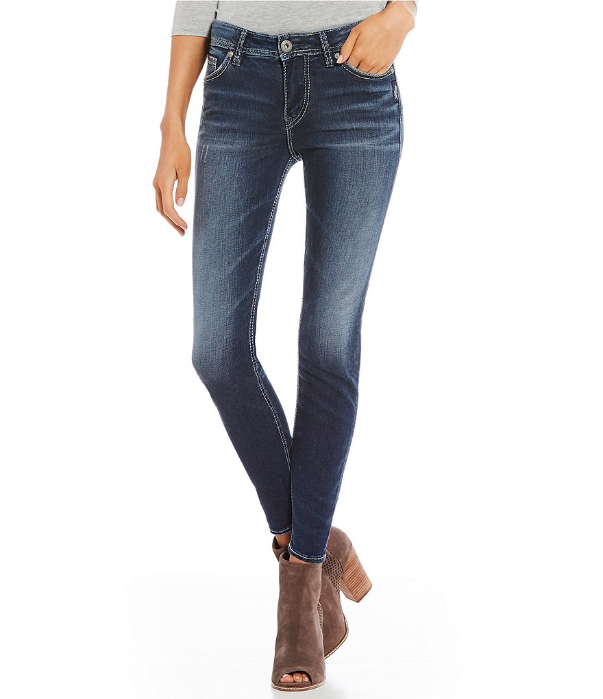 Silver Jeans Co. Mazy High Rise Ankle Skinny Jeans