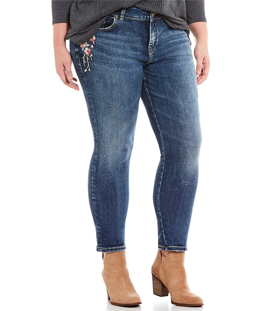Silver Jeans Co. Plus Curvy Fit Elyse Skinny Jean