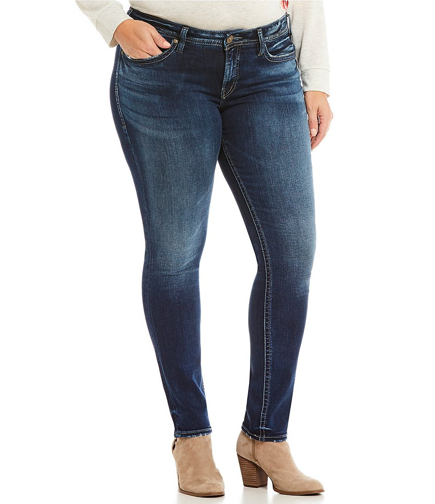 Silver Jeans Co. Plus Suki Super Skinny Jeans