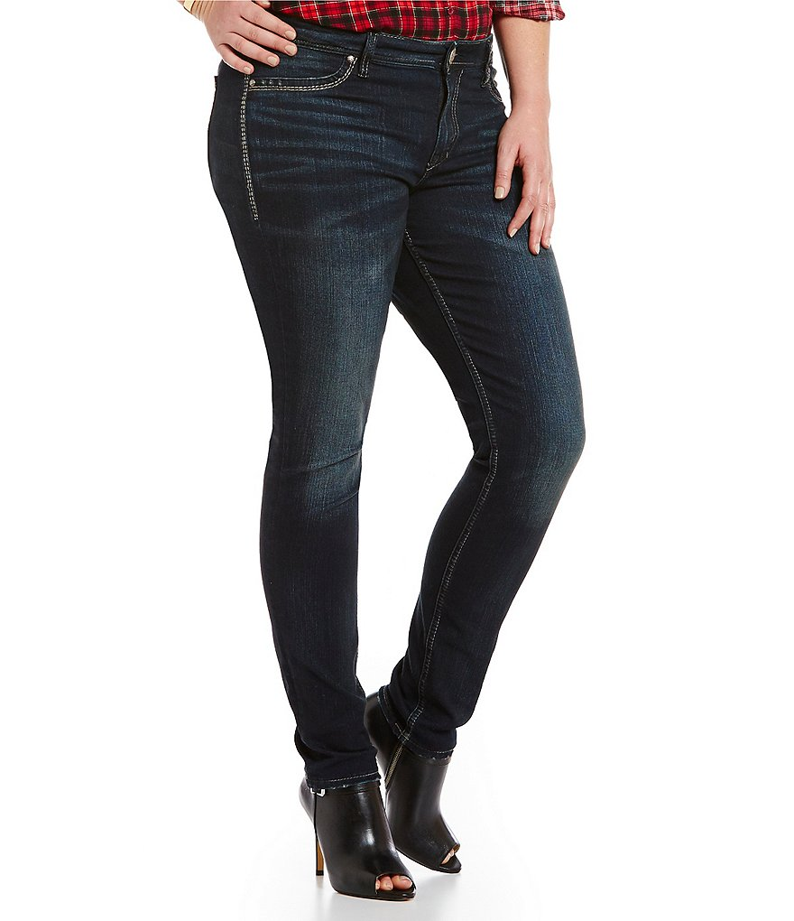 Silver Jeans Co. Plus Suki Mid Super Skinny Jeans