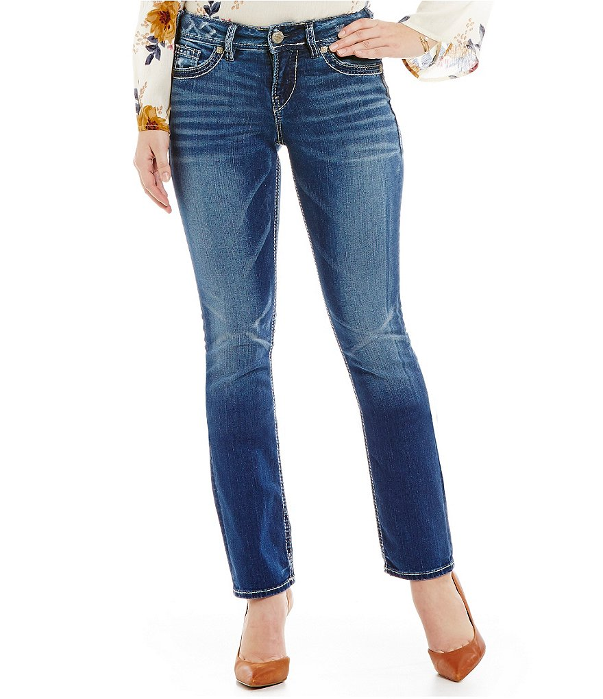 Silver Jeans Co. Suki Mid Rise Straight Cut Jeans
