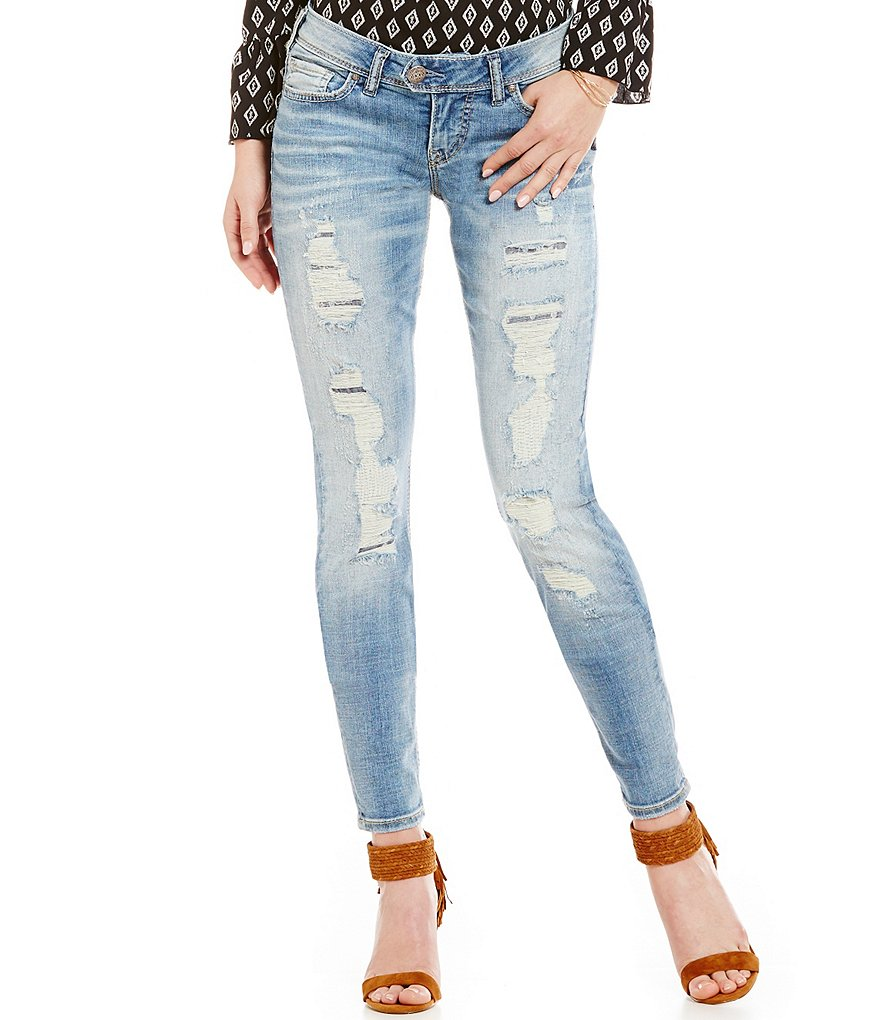 Silver Jeans Co. Tuesday Distressed Skinny Jeans