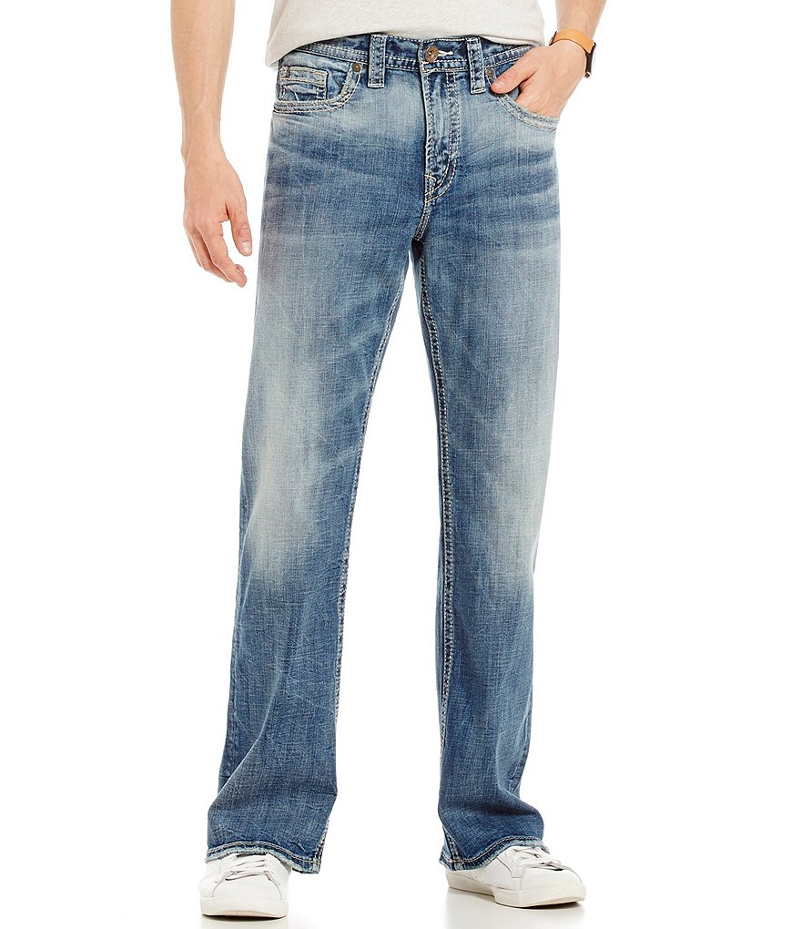 Silver Jeans Co. Craig Stretch Easy Fit Bootcut Faded Wash Jeans