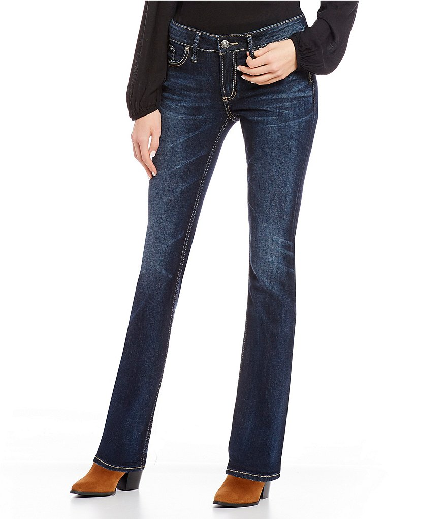 Silver Jeans Co. Elyse Dark Wash Slim Bootcut Jeans