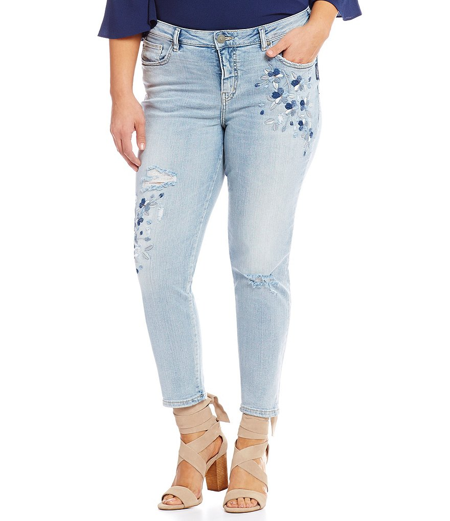 Silver Jeans Co. Plus Izzy Ankle Skinny Jeans