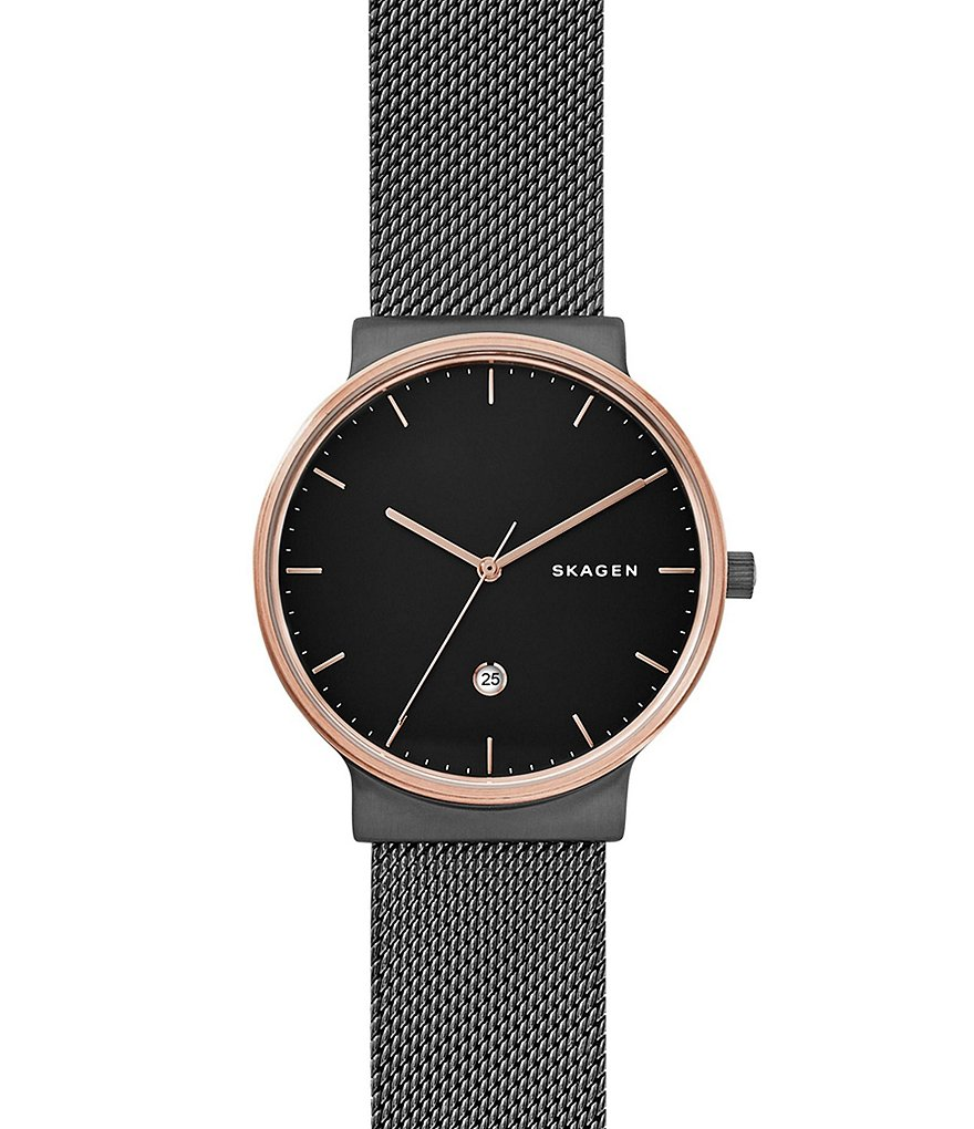 Skagen Ancher Analog & Date Convertible Mesh Bracelet Watch