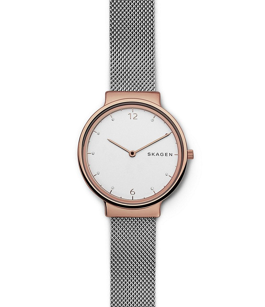 Skagen Ancher Analog Stainless Steel Mesh Bracelet Watch
