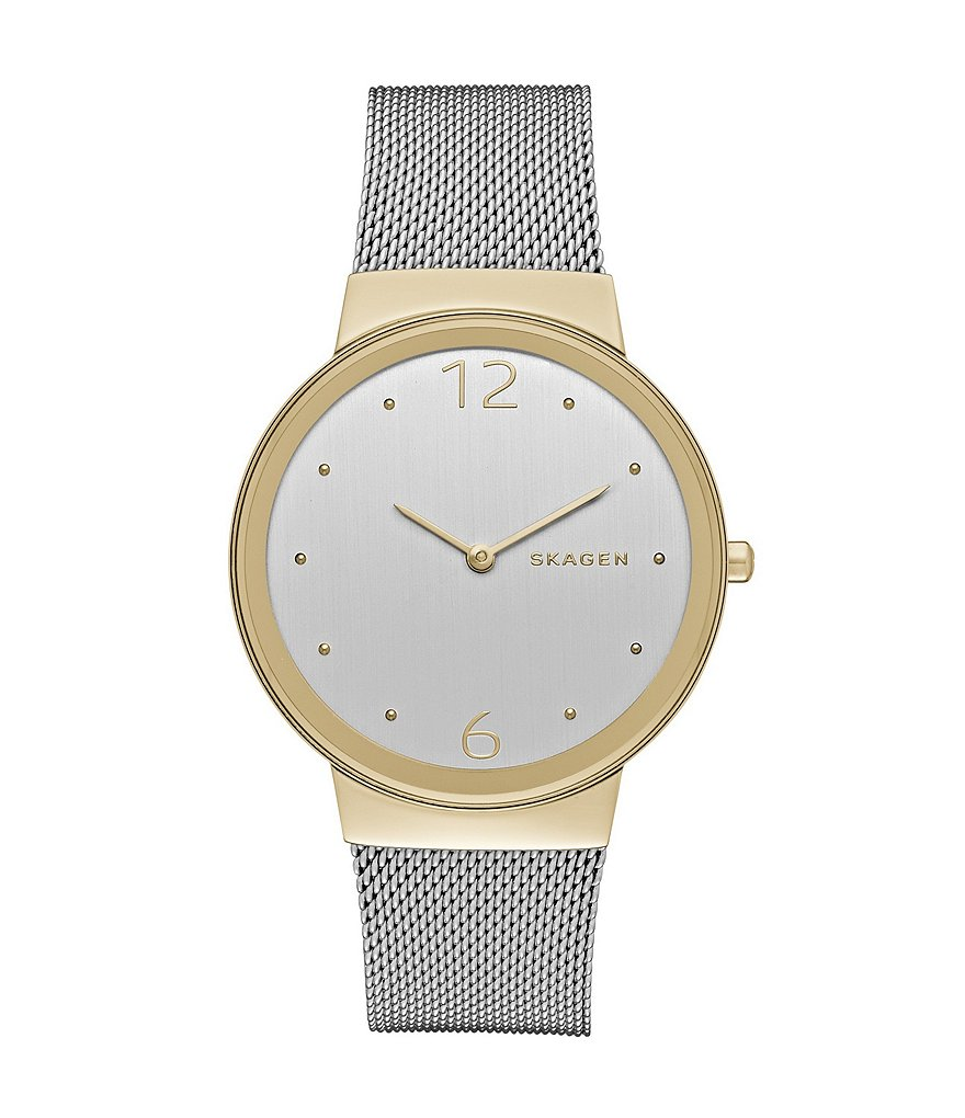 Skagen Freja Two-Tone Mesh Analog Watch